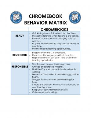Technology Matrix Chromebooks